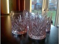 Lead glass tumblers x 5