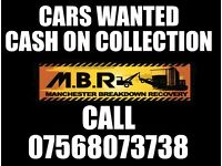 SCRAP CARS WANTED - Scrap My Car - Manchester - Trafford - Salford - Stockport - CASH ON COLLECTION