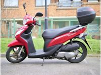 Excellent Condition! ♦ Low Mileage! ♦ 2 Owners! ♦ Red Honda Vision NSC 110cc w/ Honda Top Box!