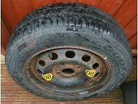 Goodyear G2 tyre 175/65 on a 14ins wheel.