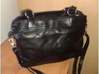 Black leatherette GIGI handbag