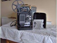 Cine Film Camera, Projector and Screen