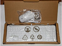 HP WHITE KEYBOARD & MOUSE SET LASER USB MOUSE QWERTY KEYBOARD BRAND NEW.**