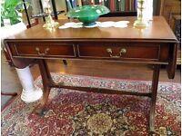 Beautiful Ewdardain Mahogany Sofa Table - WE CAN DELIVER !