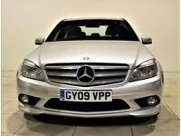 MERCEDES-BENZ C CLASS 2.1 C200 CDI SPORT 4d 135 BHP + AIR CON + AUX + BLUETOOTH (silver) 2009