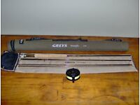 Greys Streamflex 8' #4 Fly Rod and matching Greys reel with line