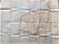 1930's German Map of Pembrokeshire - Military Interest