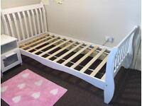 ***White Wooden Single Bed £40***