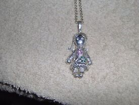 ladies doll charm neckless