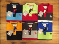 Abercrombie & Fitch AnF Men's Polo T-Shirt AUTO STRIPES for Wholesale Only