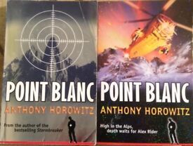 Anthony Horowitz book set, 2 series Point Blanc