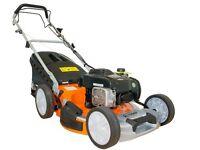 Tiger TM5120SP Self Propelled Petrol Lawn Mower, Briggs & Stratton engine, 65L Grass Bag