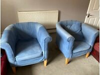 2 Sturdy bucket chairs - removeable covers - FREE!