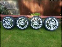 "17 "" alloys wheels with tyres"