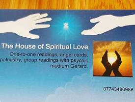 Mediumship one to one or group reading