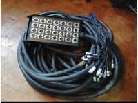 Stage Box Snake 24 channels XLR 30M Length