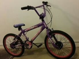 "Girls Purple Manic Flite Freestyle BMX Bike Bicycle 20"" 20in 20 inch Wheels 10+ years"