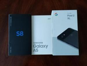 BNIB Sealed Samsung Galaxy A5 2017($350), S8 ($650), Google Pixel2 XL 128GB ($900), Genuine, Factory Unlocked!!!*****