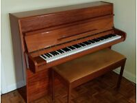 Calisia Iron Framed Upright Piano. Incl double piano stool.