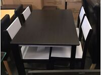 **100% GUARANTEED PRICE!**BRAND NEW-Tara Dinning Table Set With 4 Chairs-Solid Ruber Wood Mdf Table