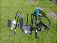 Garden Multi Tool,All in one, Chain Saw, hedge trimmer, Strimmer, Bush Wacker and extention poles