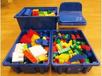 Large Lego Style Blocks Selection Job Lot