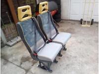 Minibus seats x4 plus lock rail