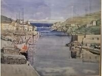 Charles Rennie MackIntosh Large Print Painting Seascape Watercolour French Port