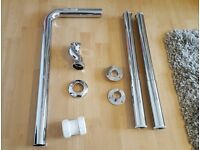 BRAND NEW Freestanding Roll Top Slipper Bath Chrome Shrouds Standpipes Exposed Waste Kit