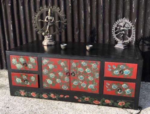 Chinees Tv Meubel Den Haag.Chinese Handbeschilderde Tv Dressoir Kast Chinees Bloemen
