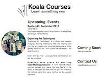 Exploring Art Techniques Course | Herts| 4 Sep 2016 | Koala Courses