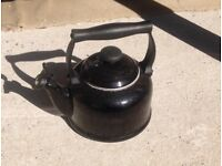 Le Creuset 2.1 litre kettle in good condition.Black with boiler whistle.
