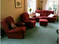 Set of Sofas. Reclineable and very comfy