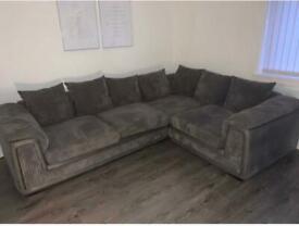 DFS dark grey corner sofa - excellent condition (collection only)