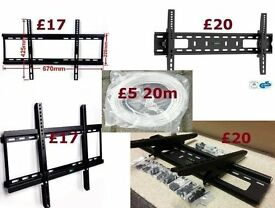 "Slim Tilt Plasma LED LCD TV Wall Mount Bracket LG Panasonic Tilting 37"" 70"" OR 20m Ethernet"
