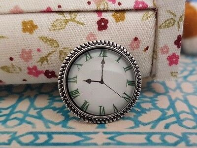 Dolls house wall clock 1:12th scale dollshouse miniature UK SELLER