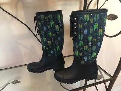 Tory Burch vintage rain boots with bug disign on it size (Tory Burch Burberry)