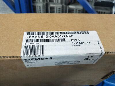 New Original Siemens Touch Panel 6av6643-0aa01-1ax0 Free Expedited Shipping