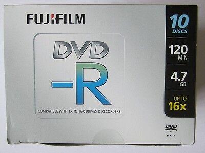 2 x Fuji film DVD-R 4.7 GB (16x) 120Min Jewel Cases Box of 10 discs (20 discs) usato  Spedire a Italy