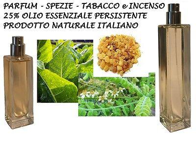 PROFUMO PARFUM SPEZIATO TABACCO INCENSO FRAGRANZA 35 / 60ml 25% OLIO ESSENZIALE