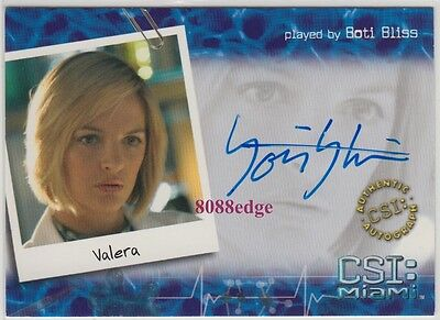 "CSI MIAMI SEASON 2 AUTO: BOTI BLISS #MI-B7 AUTOGRAPH ""TED BUNDY/DORM DAZE"""