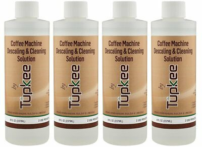 Tupkee Coffee Descaler & Cleaning Solution For Keurig & Drip Coffee Maker 4 Pack