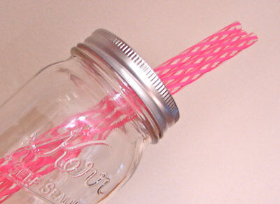 50 BPA Free Reusable Pink Plastic Straws-9 Inch Drinking Straws-Bulk - Pink Plastic