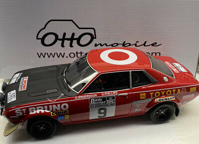 Otto Mobile  1/18 Scale Resin Model 1973 Toyota Celica GT RAC RALLY Number 9