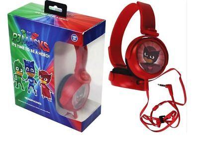 PL MASKS CHILDRENS KIDS ADJUSTABLE HEADPHONES FEATURING OWLETTE RED