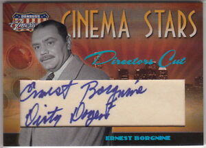 2007-AMERICANA-INSCRIPTION-AUTO-ERNEST-BORGNINE-9-10-AUTOGRAPH-DIRTY-DOZEN