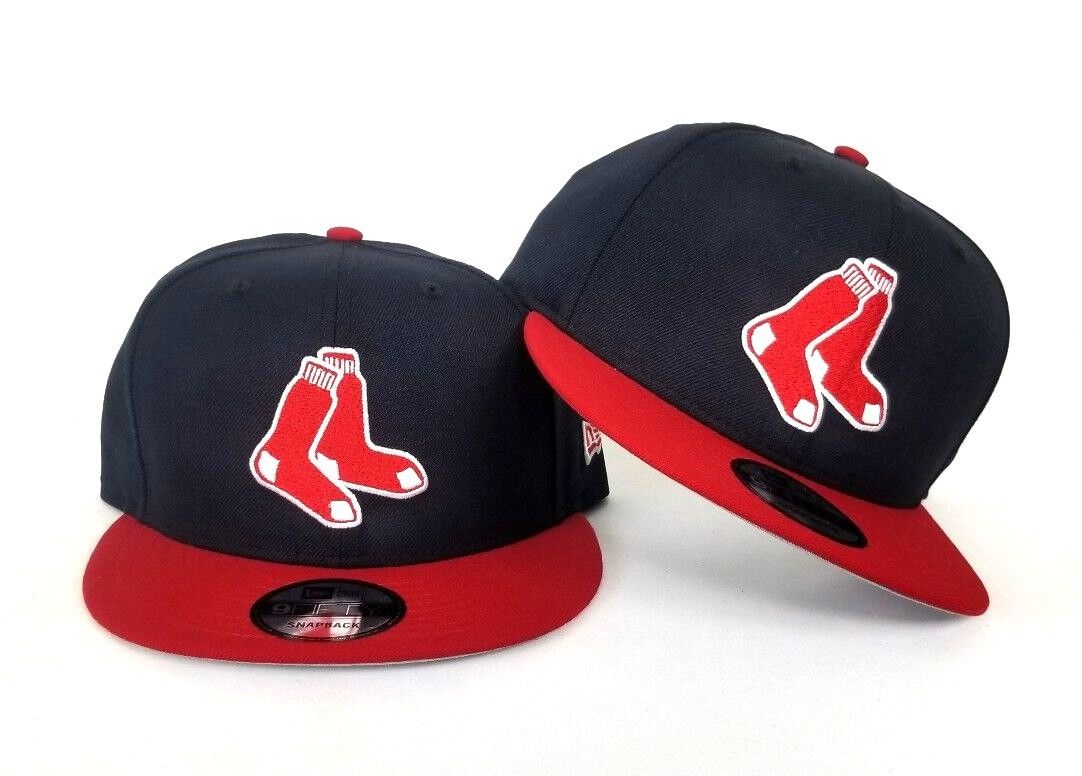 MLB BOSTON REDSOX OFFICIAL TEAM COLOURS NEW ERA 9FIFTY SNAPBACK CAP