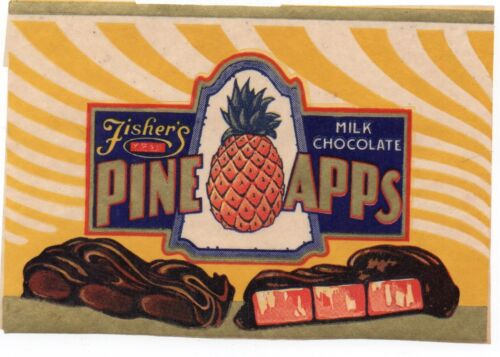 1930s Candy Advertising Label for Fisher
