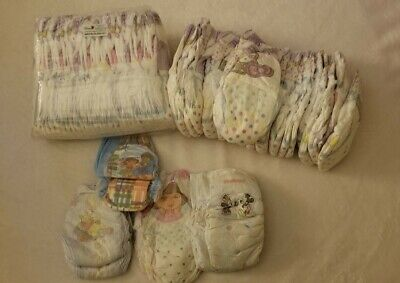 NEW LOT OF 57 DIAPERS SIZE 4/5: 52 PAMPERS EASY UPS 4T-5T PLUS EXTRAS
