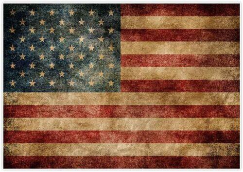 American Flag Stars USA Flag New Antique Distressed Tea Vintage Look 3x5 FT